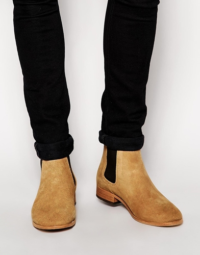 Shoe The Bear Suede Chelsea Boots Beige Nuji