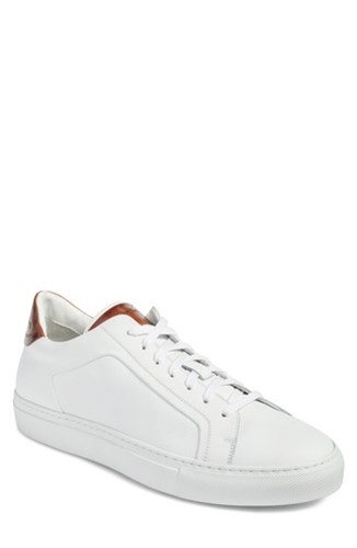 To Boot 'S New York Carlin Sneaker White Tan Leather 0SyA3ulII