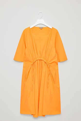 COS Rounded Pleat Dress Yellow ZM5AtVc