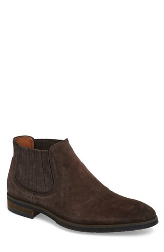 RIGHT BANK SHOE CO Gus Mid Top Chelsea Boot Coffee Oily Suede 3t8TT