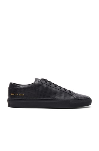 Common Projects Achilles Perforated In Black 9wjC4N