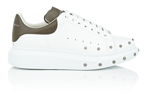 McQueen Sole Oversized Leather Sneakers Alexander White 48xHwpxq