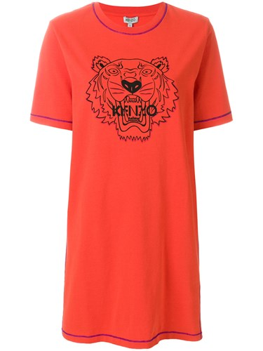 Kenzo Tiger T Shirt Dress Yellow And Orange IEMpqTX