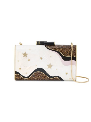 Trad Nude Clutch Resin Nathalie And Moons Ellery Stars Neutrals Brass Shell gUq7d6x