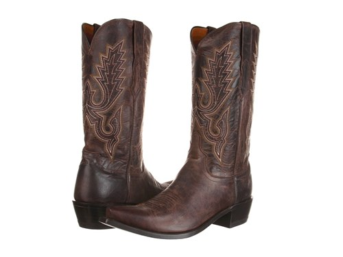 Lucchese M1002 Chocolate Madras Goat Cowboy Boots Brown jNR6J1N