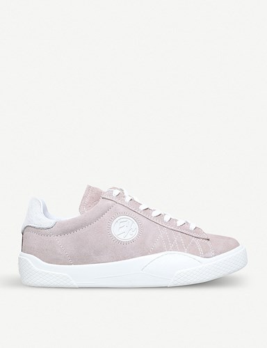 Eytys Wave Low Top Suede Trainers Pale Pink C9prQxa