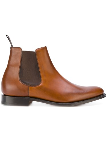 Church's Boots Men Chelsea Brown Leather 8 HrHfz7nq0