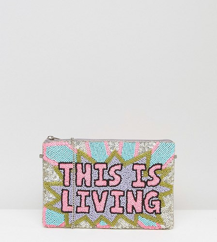 Is Clutch Two ST Bag Pink Living Live FROM This Beaded Multi Hand How X XAVIER xzwaTaqIP