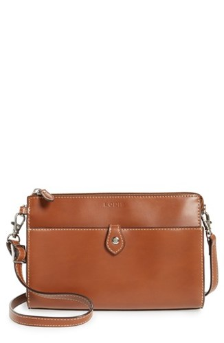 LODIS Los Angeles Audrey Under Lock And Key Vicky Convertible Leather Crossbody Bag Brown Sequoia Papaya Y4B0N8qy