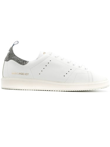 Golden Goose Deluxe Brand Landed Edition Sneakers Men Calf Leather Leather Rubber 45 White PJWqWX
