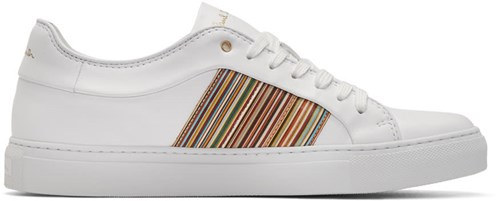 Paul Smith White Multistripe Ivo Sneakers pwTQYr3xj
