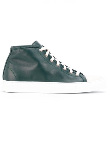 Sofie D'hoore Hi Top Sneakers Leather Rubber Green dRjZb