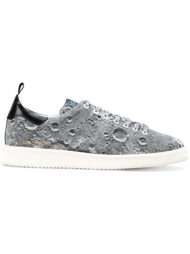Golden Goose Deluxe Brand Starter Sneakers Cotton Leather Polyamide Rubber Grey w4Zcwlvj