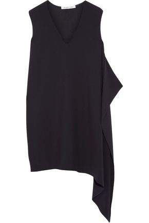 Helmut Lang Asymmetric Crepe Mini Dress Midnight Blue lDbZt3VhwF