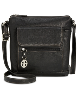 Giani Bernini Pebble Leather Venice Crossbody Black MHyPLrtoDo