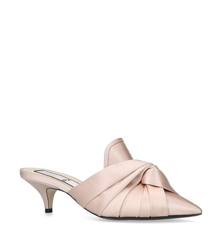 N°21 Satin Knotted Mules 50 Pink 6LSkPZ