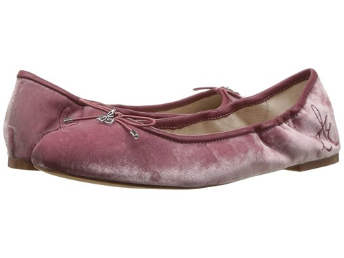 Sam Edelman Felicia Faded Rose Silky Velvet Flat Shoes Pink tl0CuV1b