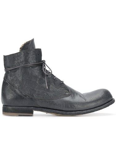 Officine Creative Bubble Boots Buffalo Leather Calf Leather Leather Black FDGpN
