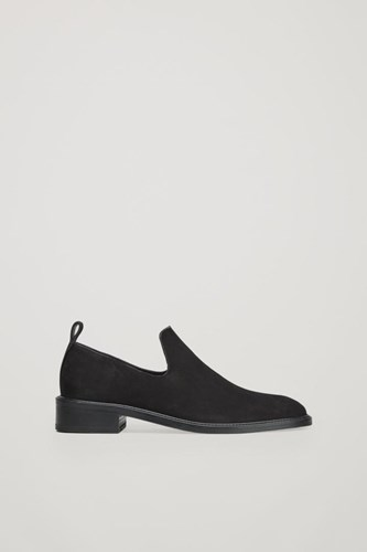 COS Suede Slip On Shoes Black uXwRyq