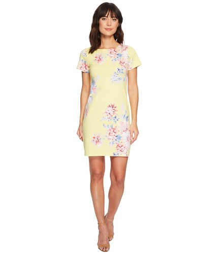 Joules Riviera Short Sleeve Printed Jersey Dress Lemon Whitstable Floral Blue wzkgb9SYN