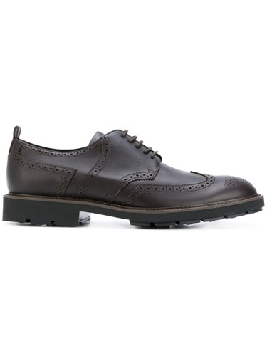 Tod's Monk Shoes Men Leather Calf Suede Rubber 8.5 Brown ptc5p1O2zG