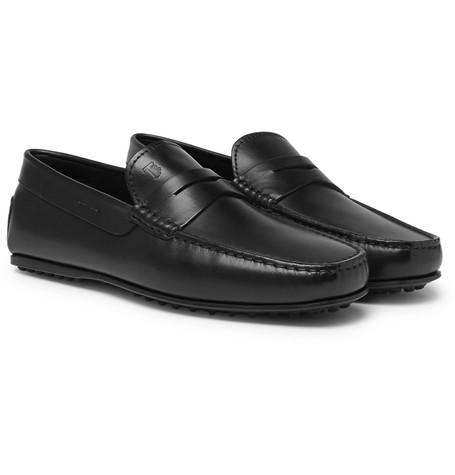 Tod's City Gommino Leather Penny Loafers Black oIvVyxVNjL