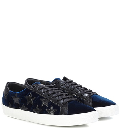 Saint Laurent Sneakers Court Classic Sl 06 In Velluto Blue wWT1e7Oxfk