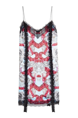 Versace Printed Dress With Lace Multicolored W2fEPOpl