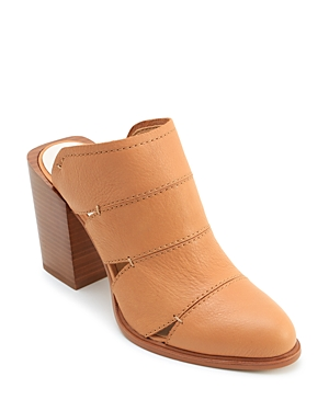 Dolce Vita Women's Makeo Cutout Leather Block Heel Mules Caramel MFAk90b6