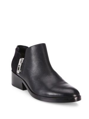 3.1 Phillip Lim Zipped Leather Booties Black old6Bq
