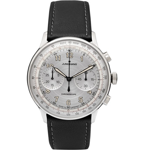 Meister Telemeter Chronoscope Stainless Steel And Leather Watch Black