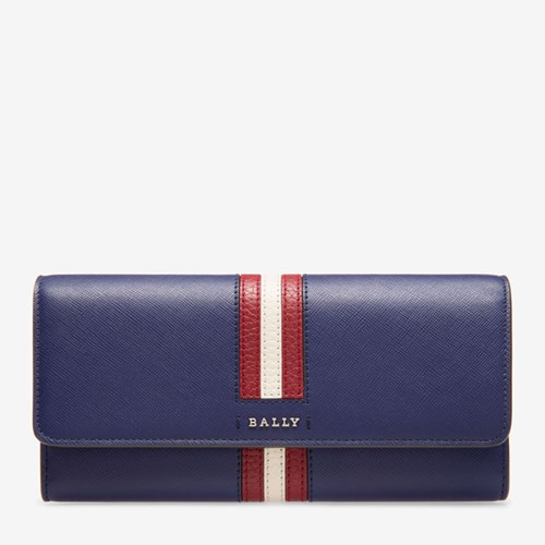 Bally Women's Calf Leather Continental Wallet In Marine BWPtOU7F