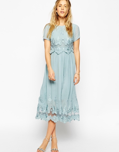 Asos premium vintage dress with double layer and nuji for Asos vintage wedding dresses