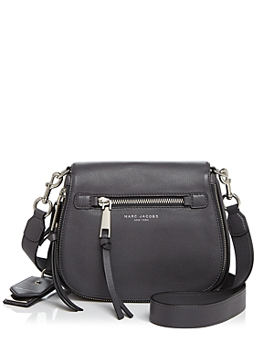 Marc Jacobs Recruit Small Nomad Leather Saddle Bag Shadow Gray Silver 2azefGk6