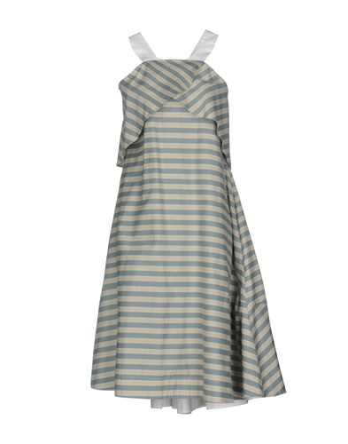 Jil Sander Navy Knee Length Dresses Light Grey JiUtV