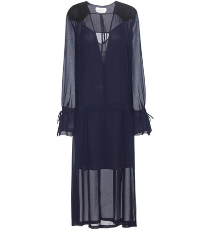 See by Chloe Mytherersa.Com Exclusive Crepe Dress Blue 5D8O0