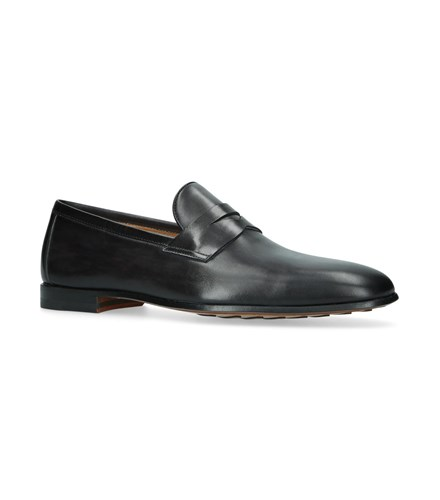 Magnanni Leather Penny Loafers Grey qSkhEZEaY