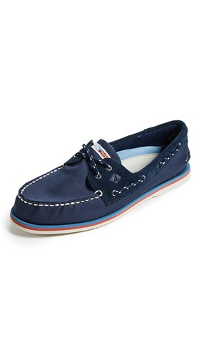 Sperry A O 2 Eye Nautical Boat Shoes Navy BDLZT