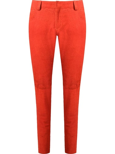 Suede Trousers Yellow And Orange