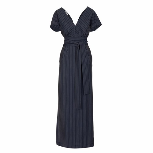 Jiri Kalfar V Neck Long Dress Blue 1xVDC