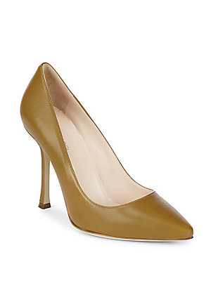 Sergio Rossi Leather Stiletto Pumps Beige ROO00swc0