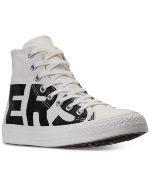 Converse Men's Chuck Taylor All Star Wordmark High Top Casual Sneakers From Finish Line Natural Black Egret Hfrfq