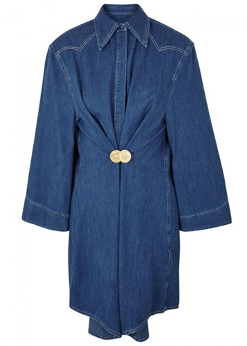Maison Martin Margiela Mm6 By Blue Denim Shirt Dress xqG6GvTz