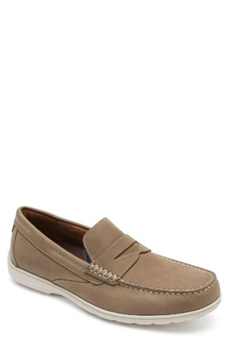 Rockport Men's Total Motion Penny Loafer New Vicuna Nubuck 33XEwocRTl