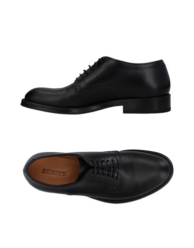 SEBOY'S Lace Up Shoes Black OeSSa3M5rT