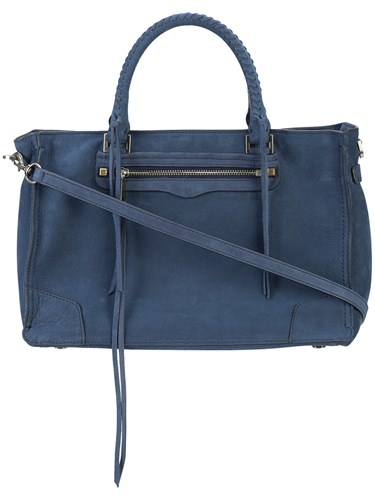 Rebecca Minkoff Regan Satchel Bag Nubuck Leather Blue U1q0M77ID