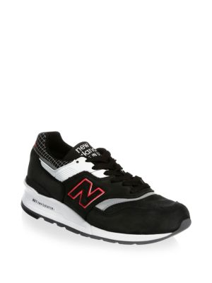New Balance Leather Low Top Sneakers Black White qsOcyRiwz