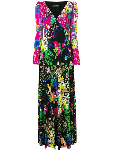 Etro Floral Print Long Dress Multicolour IDYNB1blfy