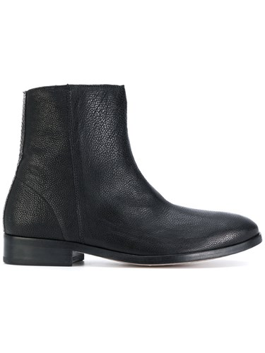 Paul Smith Ps By Flat Ankle Boots Calf Leather Leather 38.5 Black mLZR4IeaRB