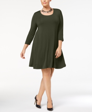 Style&co. Style Co Plus Size Swing Dress Created For Macy's Evening Olive JtwzbJQf